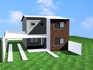 little townhouse 3d max