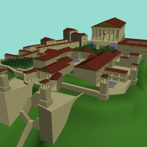 greek estate home temple 3ds