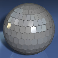 hexagonally faceted sphere 3ds