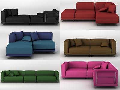 3d model sofas