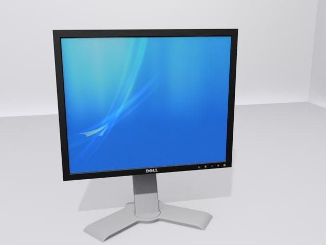 3d model dell computer monitor