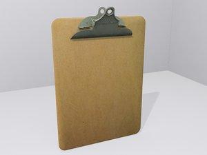 3d clipboard