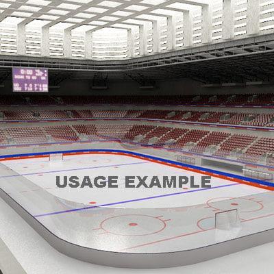 3ds max ice hockey
