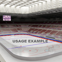 3ds max ice hockey