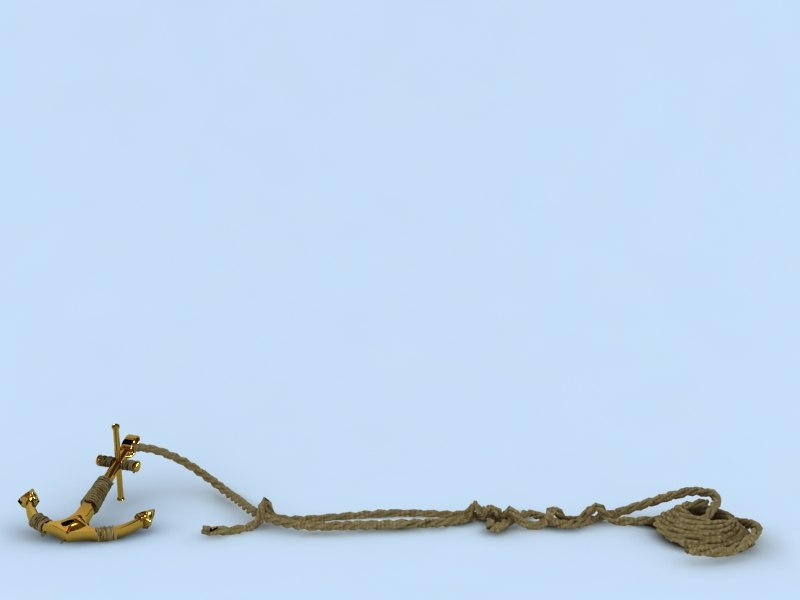anchor rope 3d model