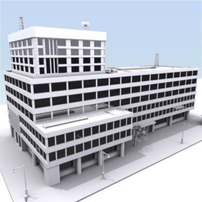 c4d building city block