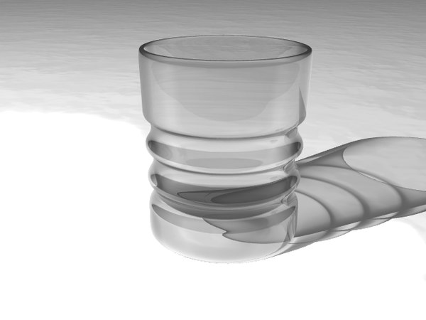 3ds wine shot glass cup