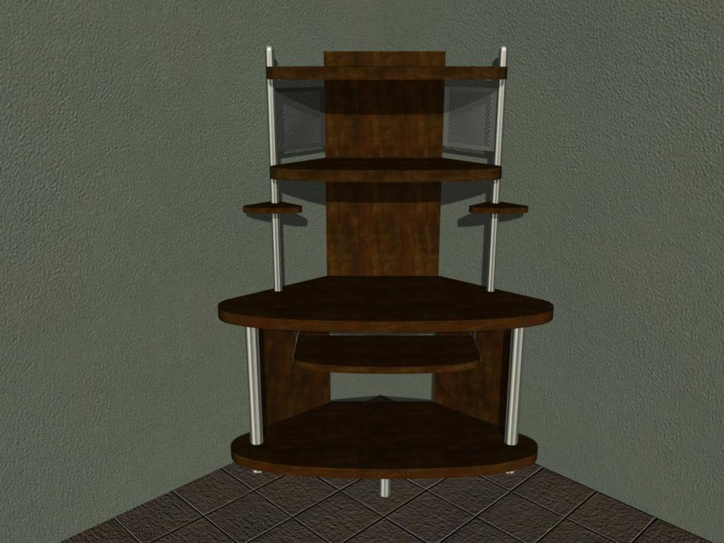 3d computer desk model