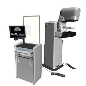 digital mammography machine medical 3d model