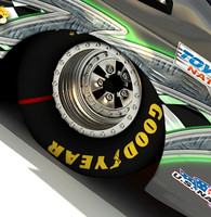 3d drag racing parts model