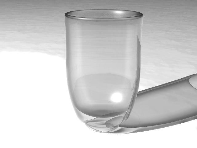 3d wine shot glass
