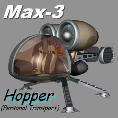 personal hopper 3d model