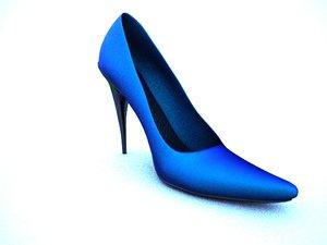 heel women shoe 3d max