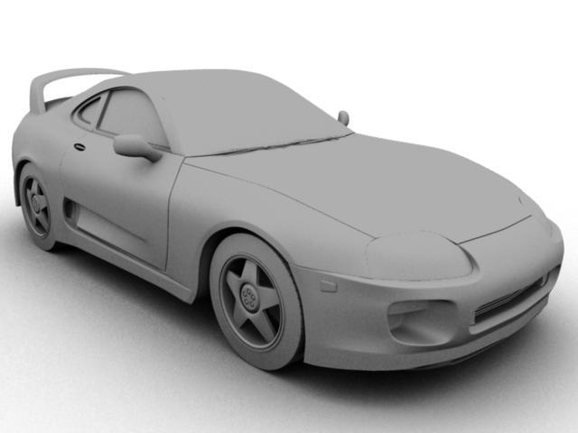 3d model supra toyota vehicle