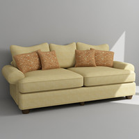 sofa loveseat 3d model