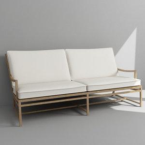 3d model sofa armchair ottoman