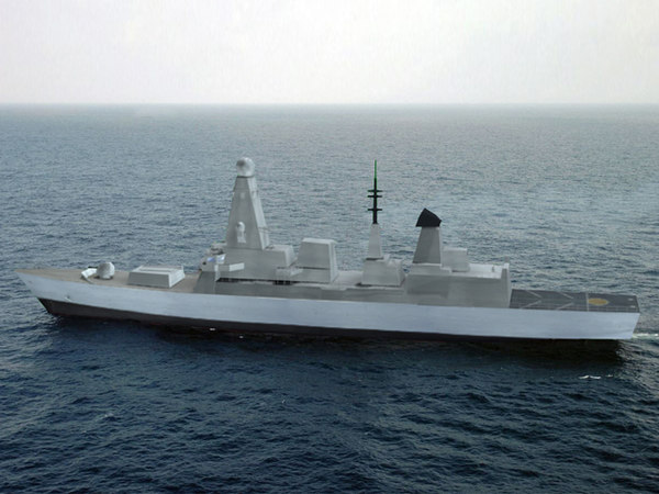 type 45 ship 3d model