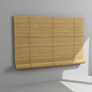 bamboo blinds 3d max