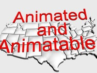 usa animation 3d model