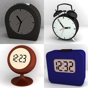 alarm clocks 3d model