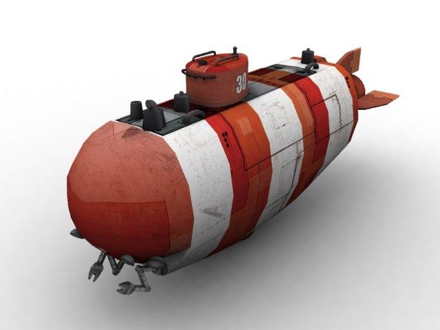 underwater bathyscaphe 3d model