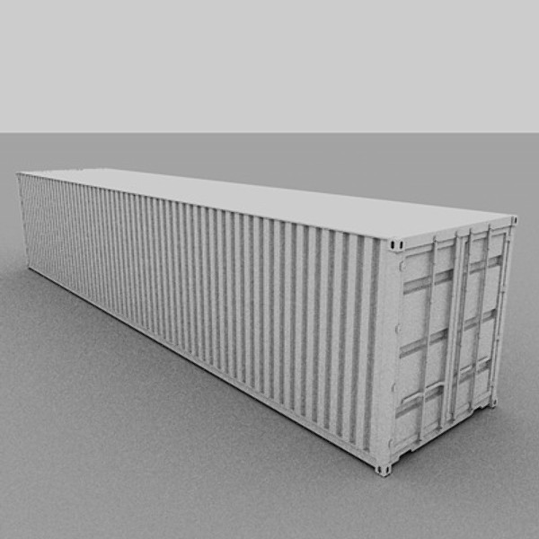 3d model 40 feet container