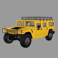 3d civilian hummer car pzhummer model