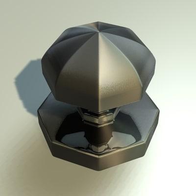 3d door knob model