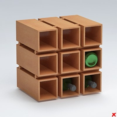 free 3ds mode wine rack