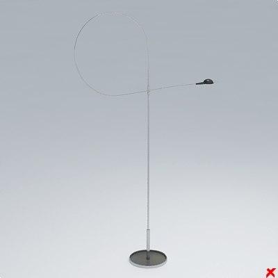 free lamp standing 3d model