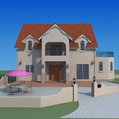 home houses buildings 3d model