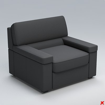 3ds armchair chair
