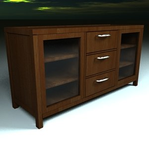 3ds max table wood drawers