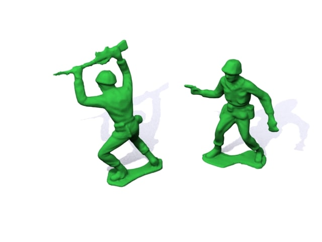 3d plastic army men series