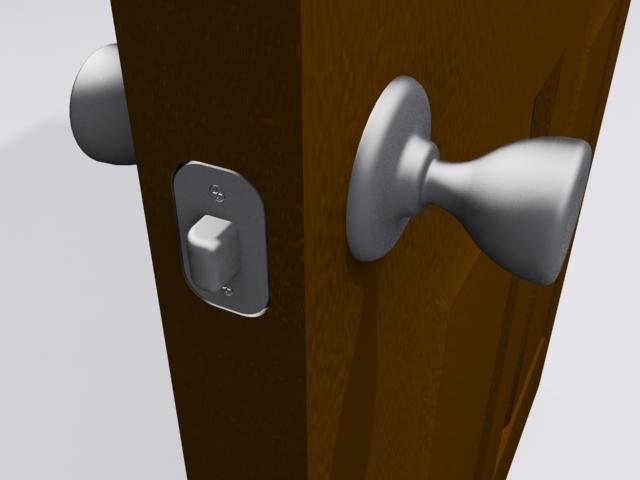 3dsmax door knob