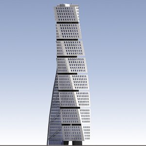 3ds max turning torso skyscraper