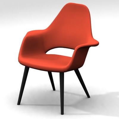 chair charles eames eero saarinen 3d model