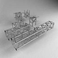 3d model truss americana ferro