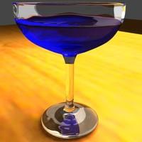 3d model margarita glass