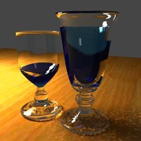 3d wine glass
