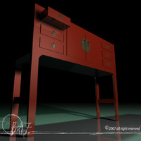 3d model chinese cabinet