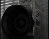 3d model 8 mm camera