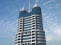 3d model shanghai skyscraper 8