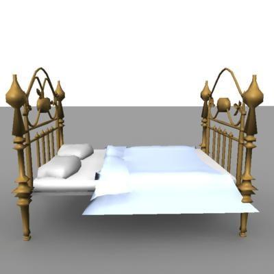 old bed obj free