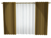 3ds max curtain modelled