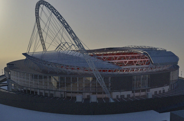 3d model architectural london stadium build