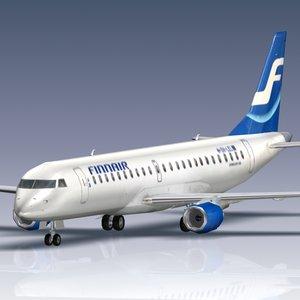 regional embraer 190 3d max