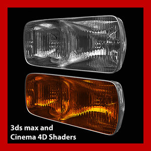 headlight rear light headlamp 3d model