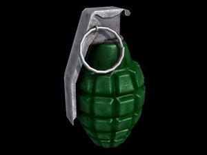 hand grenade nade 3d obj