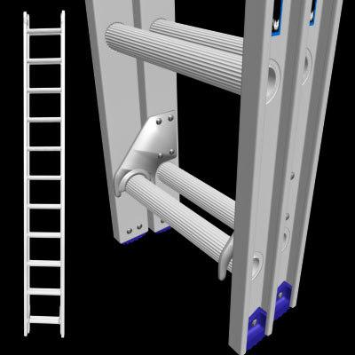 3d extension ladder model